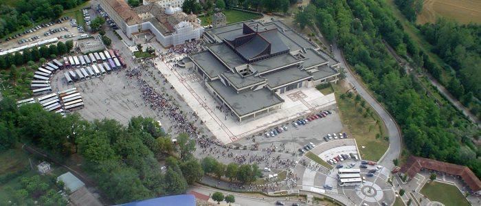 Santuario S.Gabriele, veduta aerea 2006