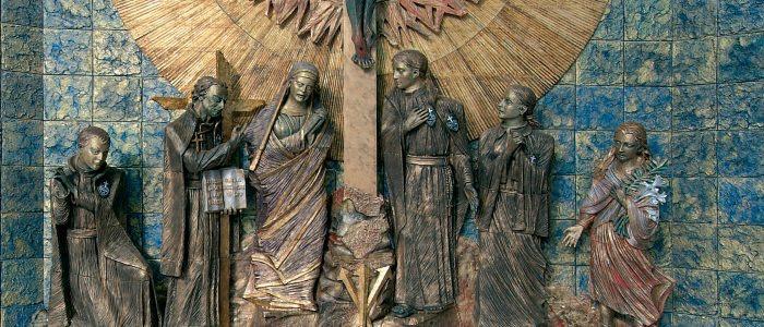 La Crocifissione, ceramica di Nino Di Simone, n. santuario SG